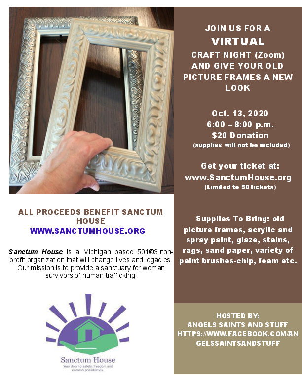 Image and link to the October 2020 virtual craft night